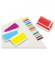 "Redi-Tag 1"" x 3/16"" Removable Page Flags, Assorted, 240 Flags/Pack"
