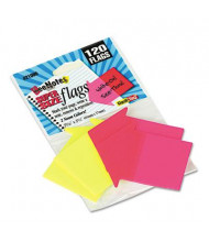 "Redi-Tag 2-9/16"" x 2-1/4"" SeeNotes Transparent Film Arrow Flags, Assorted, 120 Flags/Pack"