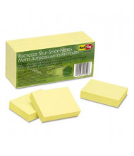"Redi-Tag 1-1/2"" X 2"", 12 100-Sheet Pads, Yellow Sticky Notes"