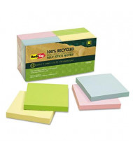 "Redi-Tag 3"" X 3"", 12 100-Sheet Pads, Pastel Sticky Notes"
