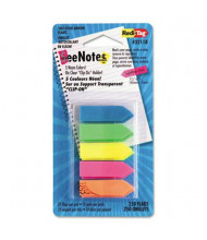 "Redi-Tag 1-3/4"" x 15/32"" SeeNotes Transparent Film Arrow Flags, Assorted, 250 Flags/Pack"