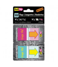 "Redi-Flag ""Sign Me!"" Pop-Up Fab Flags with Dispenser, 100/Pack"