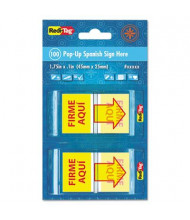 "Redi-Tag 1"" x 1-11/16"" ""Firme Aqui"" Spanish Arrow Flags, Red/Yellow, 100 Flags/Pack"