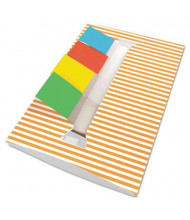 Redi-Tag 4-Pad Striped Designer Pop-Up Flag Dispenser, 35 Flags, Orange