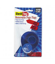 "Redi-Tag 9/16"" x 1-3/4"" ""Sign Here"" Message Arrow Page Flags, Red, 120 Flags/Pack"