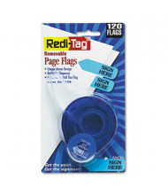 "Redi-Tag 9/16"" x 1-3/4"" ""Sign Here"" Message Arrow Page Flags, Blue, 120 Flags/Pack"