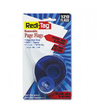 "Redi-Tag 9/16"" x 1-3/4"" ""Please Sign and Return"" Message Arrow Page Flags, Red, 120 Flags/Pack"