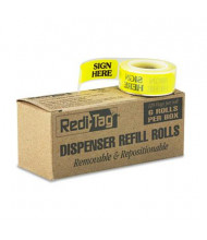"Redi-Tag 9/16"" x 1-3/4"" ""Sign Here"" Message Right Arrow Flags, Yellow, 720 Flags/Pack"
