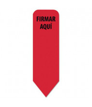 "Redi-Tag 1-3/4"" x 9/16"" ""Firmar Aqui"" Spanish Arrow Flags, Red, 720 Flags/Pack"