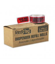"Redi-Tag 9/16"" x 1-3/4"" ""Please Sign & Return"" Message Arrow Page Flags, Red, 720 Flags/Pack"