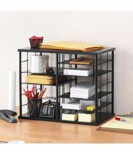 Rubbermaid 12-Section Desktop Sorter, Black