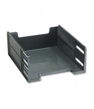 "Rubbermaid 5"" H Stackable High-Capacity Front-Load Letter Tray, Ebony"