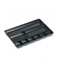 Rubbermaid 9-Compartment Regeneration Plastic Drawer Organizer, Black
