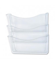 Rubbermaid 3-Pocket Letter Unbreakable Wall File Pocket, Clear