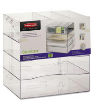 Rubbermaid Optimizers Four-Way Organizer with Drawers, Clear