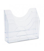 "Rubbermaid 3-1/2"" D Letter Three-Pocket File Folder Organizer, Clear"