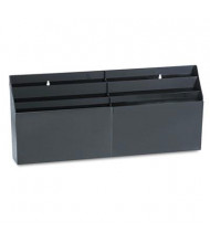 Rubbermaid 6-Section Optimizers Pocket Organizer, Black