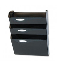 Rubbermaid 3-Pocket Letter Classic Hot Wall File Pocket, Smoke
