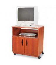 Safco 1-Shelf /2-Door Machine Cart, Cherry