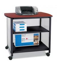 Safco 2-Shelf Deskside Machine Cart, Black