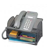 "Safco 7"" H Onyx Angled Mesh Steel Telephone Stand, Black"