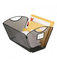 "Safco 13-3/4"" D Legal Mesh Desktop Tub File Storage Box, Black"