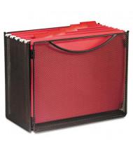 """Safco 7"""" D Letter Desktop File Storage Box, Black"""