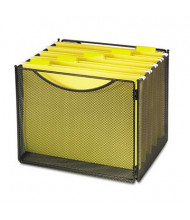 """Safco 11"""" D Letter Desktop File Storage Box, Black"""