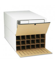 "Safco 36"" Long 18-Roll Tube-Stor File Storage Boxes, 2/Carton"