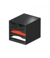 Safco 7-Section Steel Desktop Sorter, Black