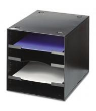 Safco 4-Section Steel Desktop Sorter, Black