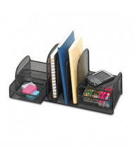 Safco 3-Section Onyx Mesh Desk Organizer with 2 Baskets, Black