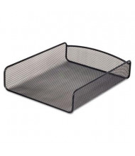 "Safco 2-1/2"" H Onyx Steel Mesh Desk Letter Tray, Black"