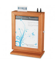 """Safco Customizable Suggestion Box, 10.5"""" W x 5.8"""" D x 14.5"""" H, Cherry Wood"""