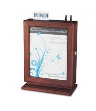 "Safco Customizable Suggestion Box, 10.5"" W x 5.8"" D x 14.5"" H, Mahogany Wood"