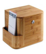 """Safco Suggestion Boxes, 10"""" W x 8"""" D x 14"""" H, Natural Bamboo"""