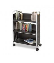 Safco Scoot Single Sided 3-Shelf Book Cart