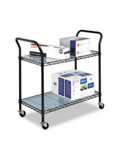 Safco 2-Shelf Wire Utility Cart, Black (example of use)