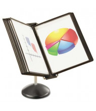 Safco 10-Pocket Ultimate Desktop Reference System, Black Borders