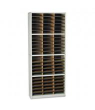 Safco 72-Compartment Value Steel & Fiberboard Mail Sorter, Grey
