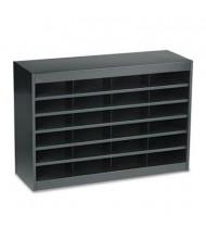 Safco 24-Section E-Z Stor Steel Literature Sorter, Black