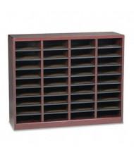 Safco 36-Compartment E-Z Stor Wood & Fiberboard Literature Sorter, Mahogany