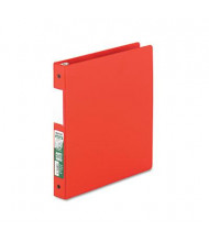 """Samsill 1"""" Capacity 8-1/2"""" x 11"""" Round Ring Clean Touch Non-View Binder, Red"""