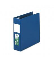 "Samsill 3"" Capacity 8-1/2"" x 11"" Round Ring Clean Touch Non-View Binder, Dark Blue"