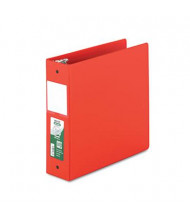 "Samsill 3"" Capacity 8-1/2"" x 11"" Round Ring Clean Touch Non-View Binder, Red"