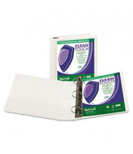 "Samsill 2"" Capacity 8-1/2"" x 11"" Locking Straight-D Ring Clean Touch View Binder, White"