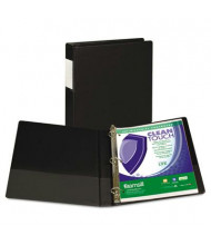 """Samsill 1"""" Capacity 8-1/2"""" x 11"""" Straight Ring Clean Touch Non-View Binder, Black"""