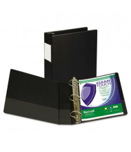 """Samsill 2"""" Capacity 8-1/2"""" x 11"""" Straight Ring Clean Touch Non-View Binder, Black"""