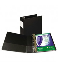 "Samsill 3"" Capacity 8-1/2"" x 11"" Straight Ring Clean Touch Non-View Binder, Black"