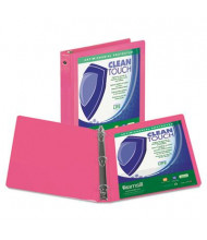 "Samsill 3"" Capacity 8-1/2"" x 11"" Round Ring Clean Touch View Binder, Berry"